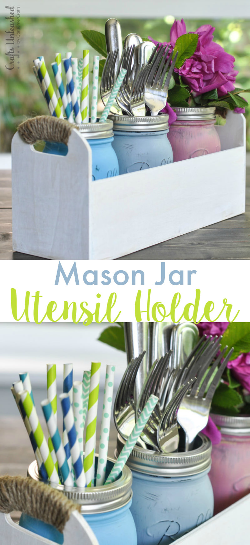 DIY Mason Jar Utensil Caddy Tutorial