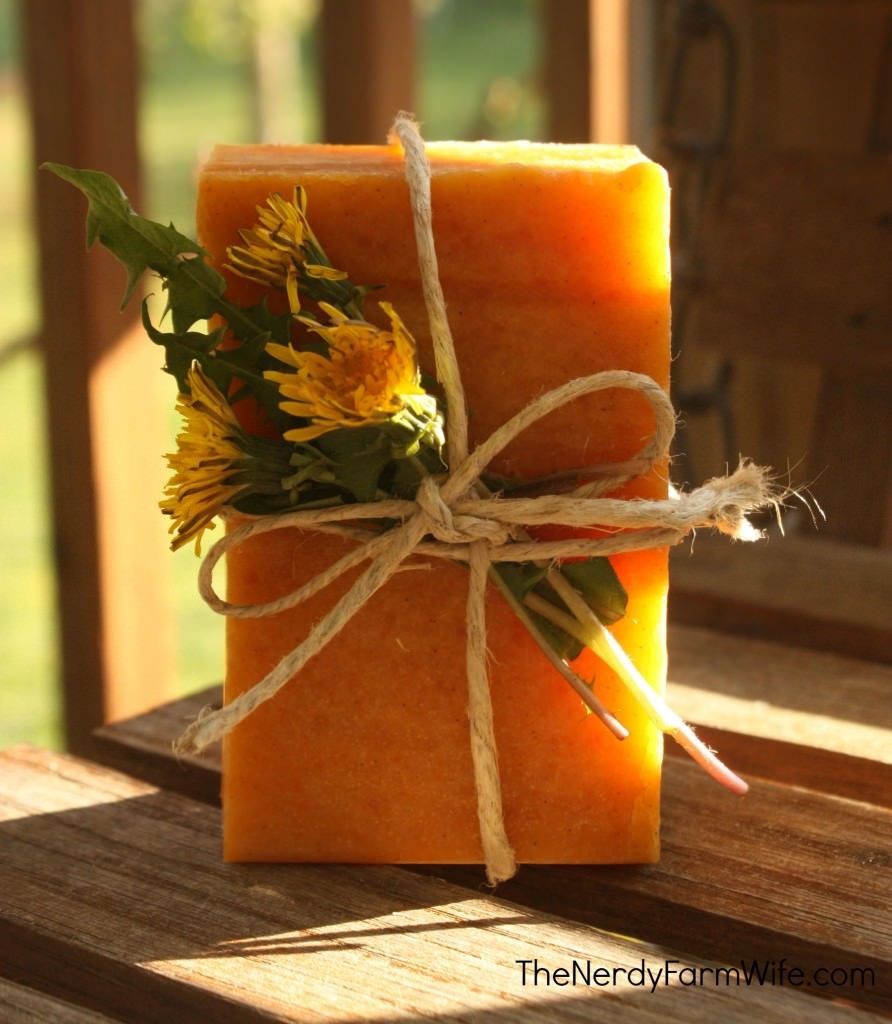 Dandelion and Raw Honey Soap