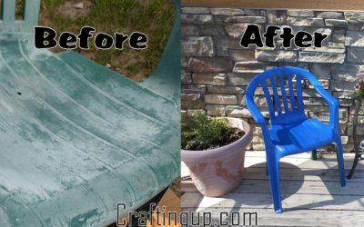 Reclaiming Faded Plastic Patio Furniture
