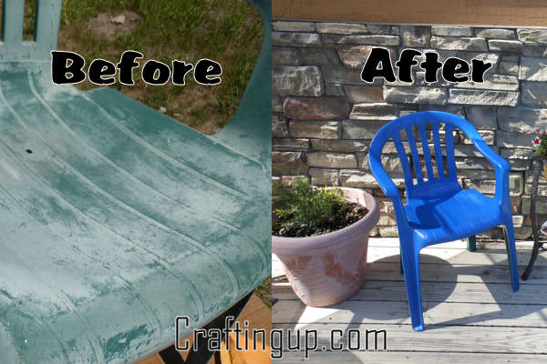 Reclaiming Faded Plastic Patio Furniture